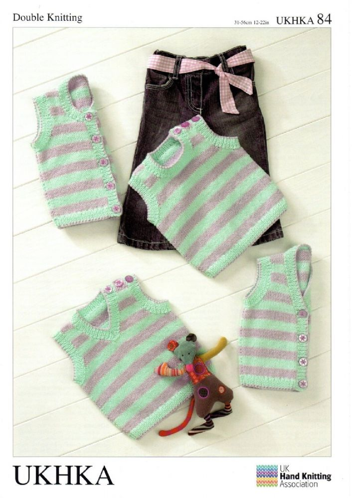 Ukhka Knitting Patterns : Ukhka dk baby slipover waistcoat knitting pattern